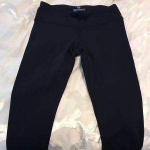 Navy crop leggings
